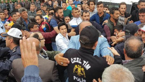 Samsun'da polis ile öfkeli kalabalık arasında arbede çıktı