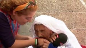 TRT muhabirini ısıran nine