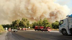Kumluca'daki orman yangını!