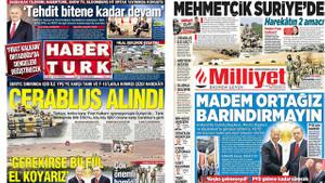 Gazeteler nasıl gördü? Fırat Kalkanı manşetleri...