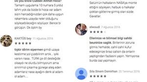 NASA'ya yorum bırakan Türkler