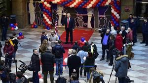 Madrid'de ABD'nin yeni Başkanı Donald Trump protestosu