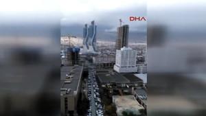 İzmir'deki patlama vatandaş kamerasında