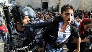 Son dakika: Kudüs'te protesto gösterisine İsrail polisinden sert müdahale