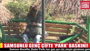 Parkta sevişen çifti polis bastı!