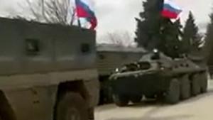 Rus askerler Afrin'de