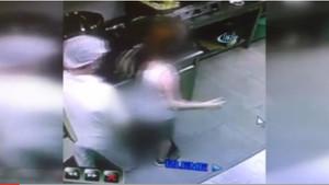 Restoranda kadın müdüre taciz anı