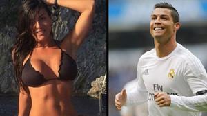 Barbara Francesca Ovieni, Cristiano Ronaldo haberini sunarken fena dağıldı