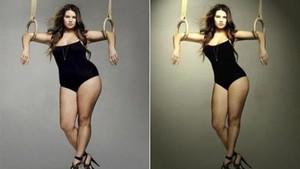 Photoshop'un yarattığı mucize'ler.. Photoshop'tan önce ve sonra...