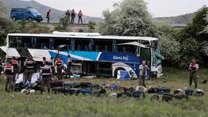 Kastamonu'daki otobüs kazasından ilk görüntüler
