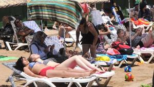 Eskişehir'deki yapay plaj dolup taştı