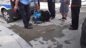 Genç kız drift yaparken kaza yaptı, krize girip otomobilini yakmaya kalkı!