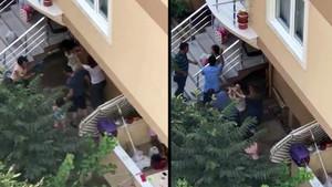 Ataşehir'de tuhaf olay! Komşu genç kıza, karı-koca dayağı