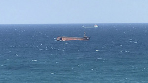 Kilyos açıklarında yük gemisi ortadan ikiye ayrıldı