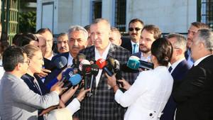 Erdoğan'dan Macron'a: Benimle konuşması artı bir değer