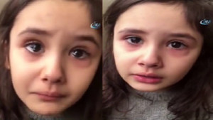 Minik kız Erdoğan'ı göremeyince gözyaşlarına boğuldu