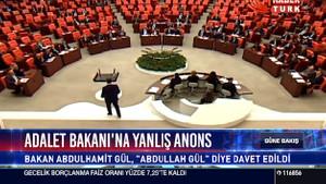 Meclis'te Abdullah Gül anonsu