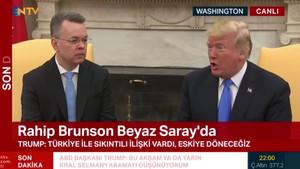 Papaz Brunson Beyaz Saray'da Trump ile buluştu