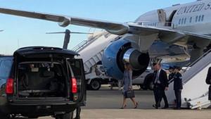 Trump'ın uçağında korku dolu anlar!