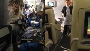 Yolcu uçağında şok anlar! Yolcular hüngür hüngür ağladı