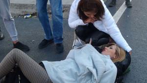 Taksim'de İranlı turiste Pega Merdane'ye taksi çarptı