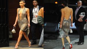Bella Hadid cesur elbisesiyle dikkatleri üzerine çekti