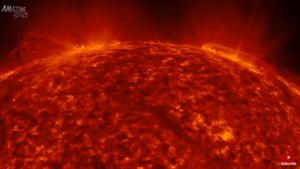 Güneşin yüzeyindeki patlamalardan canlı yayın