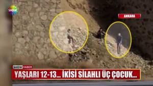 Ankara'da skandal görüntü! Üç çocuk kurşun yağdırdı