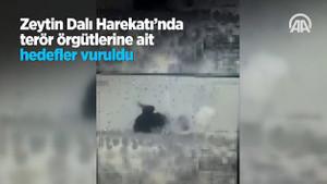Zeytin Dalı Harekatı'nda terör örgütlerine ait hedefler böyle vuruldu