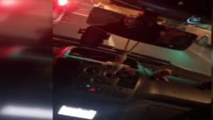 Harbiye'de taksici Uber şöförüne saldırdı
