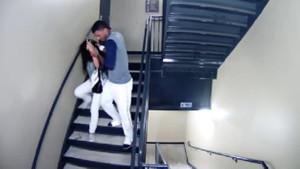 Ünlü sporcunun kız arkadaşına attığı dayak kamerada