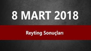 8 Mart reyting sonuçları: Vatanım Sensin, Survivor, Bizim Hikaye lider kim?