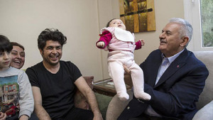 Başbakan Yıldırım'dan CHP'li aileye sürpriz ziyaret