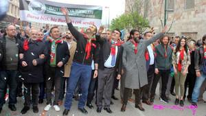 Osmangazi Fetih yürüyüşünde Diriliş Ertuğrul izdihamı