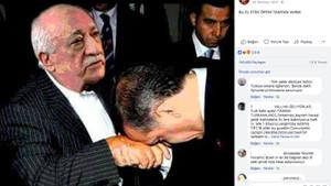Fetullah Gülen'in elini öpen Erdoğan karesi foto montaj çıktı