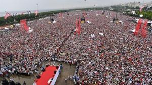 Erdoğan: İnce'nin mitinginde 5 milyon kişi var dediler, 500 kişi yok