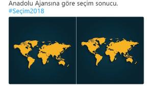 Anadolu Ajansı'nın seçim sonuçlarına sosyal medyadan flaş tepkiler!