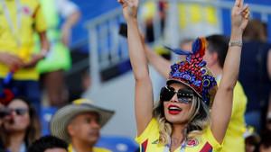 Kolombiya taraftarı çok heyecanlı