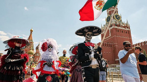 Meksika'nın Ölüler Günü Festivali Moskova'ya taşındı