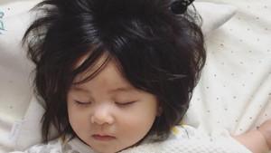 Japon bebek Chanco gür saçları ve şirinliğiyle sosyal medyada gündem oldu