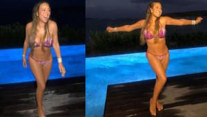 Mariah Carey'den bikinili paylaşım