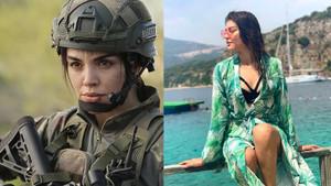 Savaşçı'nın Teğmen Çiğdem'i Gaye Turgut Evin'in pozları olay oldu
