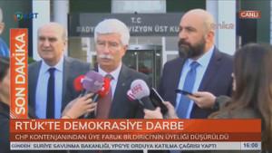Faruk Bildirici'den RTÜK'ün skandal kararına tepki