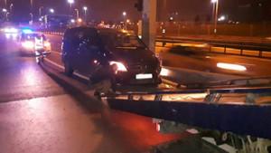 Uber sürücüsü kaza yaptı! Alkollü çıktı