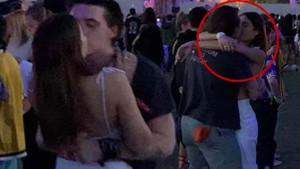 Beckham'ın oğlu aşka geldi! Sevgilisini öpücüklere boğdu