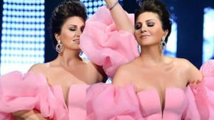 Sibel Can'ın göğüs dekolteli pembe elbisesi hayran bıraktı
