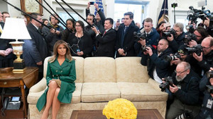 Melania Trump'ın fotoğrafı sosyal medyayı salladı!
