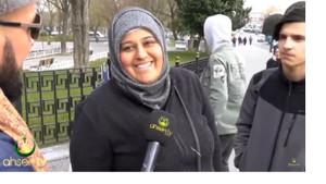 Ahsen TV muhabirini ters köşeye yatıran başörtülü kadın olay oldu