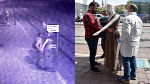 Sokak ortasında iğrenç taciz! Cansız mankeni...