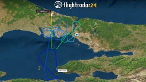 Antalya İstanbul uçağının baş döndüren rotası!